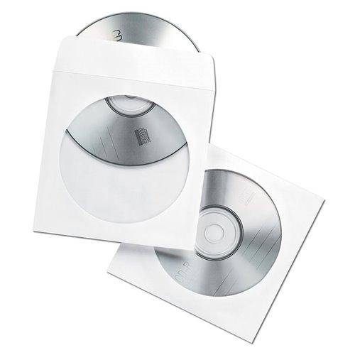 Koperty z okienkiem na płyty CD/DVD: białe