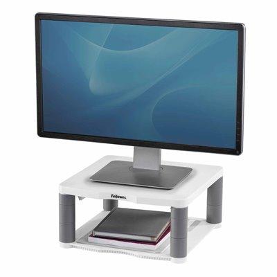 Podstawa pod monitor Premium z półką: szary
