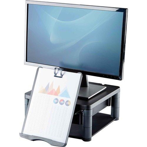 Podstawa pod monitor z szufladą/copyholderem: grafitowy