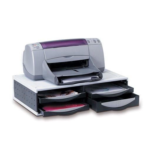 Podstawa pod drukarkę / fax: srebrno-czarna