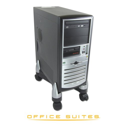 Podstawa CPU/niszczarkowa Office Suites™: srebrno-czarna