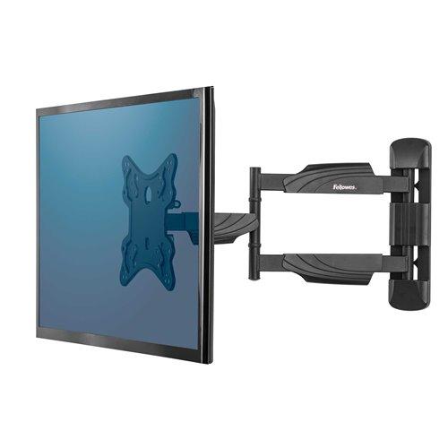 Regulowane ramię na TV do montażu na ścianie: czarne
