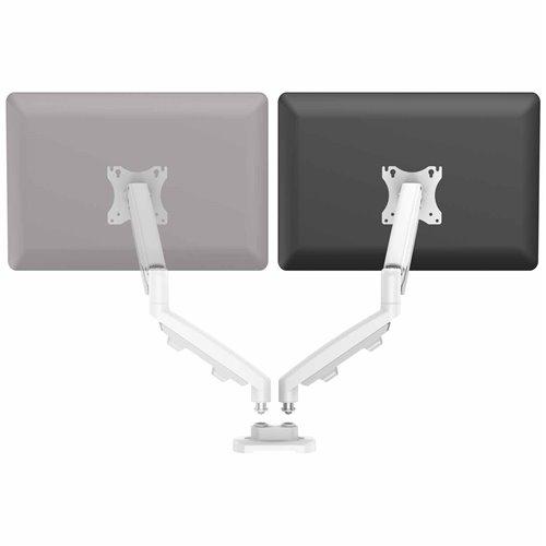 Zestaw z 1 ramieniem do rozbudowy na 2 monitory EPPA™ biały: Biały