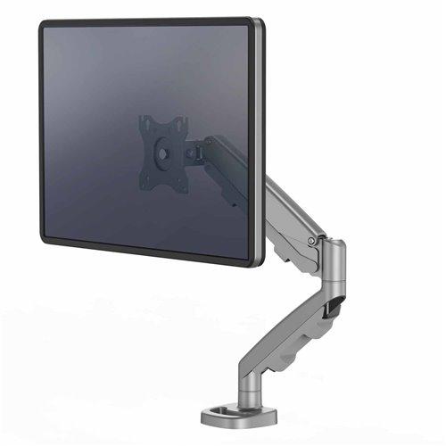 Ramię na 1 monitor Eppa™ - srebrne: Srebrny