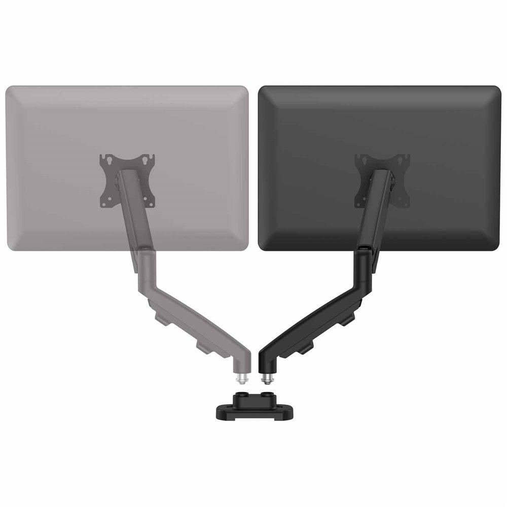 Zestaw z 1 ramieniem do rozbudowy na 2 monitory EPPA™ czarny: Czarny