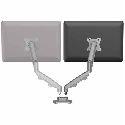 Zestaw z 1 ramieniem do rozbudowy na 2 monitory EPPA™ srebrny: Srebrny