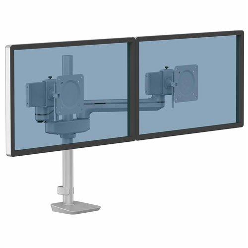 Ramię na 2 monitory TALLO Modular™ 2FS (srebrne): Srebrny