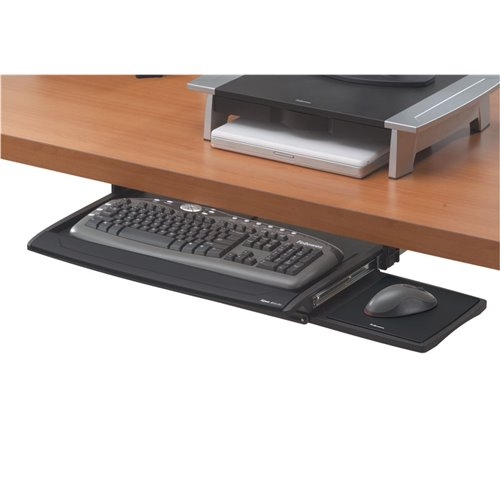 Szuflada na klawiaturę DELUXE Office Suites™: Czarna
