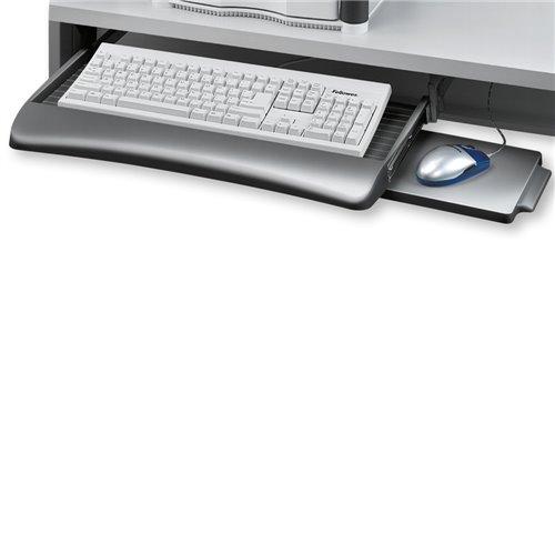 Szuflada na klawiaturę z podstawką pod mysz: grafitowy/szary