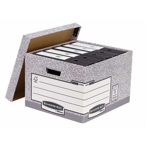 Duże pudło na archiwa: biało - szary
