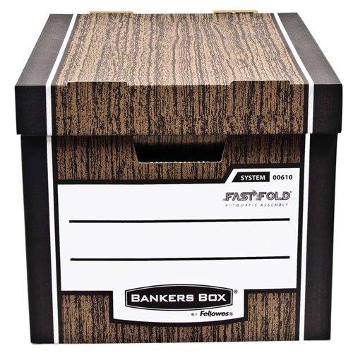 Pudło archiwizacyjne Woodgrain - brązowe: Pudło archiwizacyjne Woodgrain - pakowane po 2 szt.