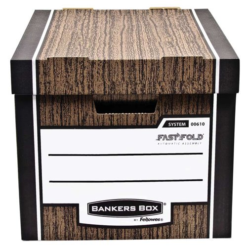 Pudło archiwizacyjne Woodgrain - brązowe: Pudło archiwizacyjne Woodgrain - pakowane po 10 szt.