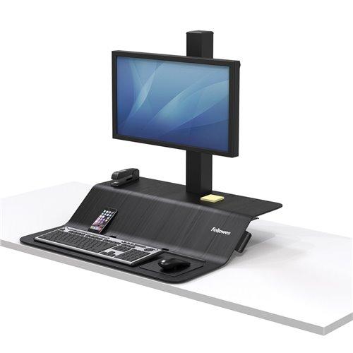 Stanowisko do pracy Sit-Stand Lotus™ VE na jeden monitor: czarne