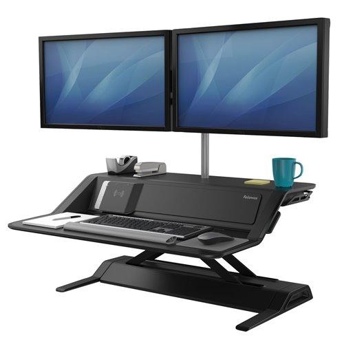 Stanowisko do pracy Sit-Stand Lotus™ DX  - czarne: Czarne
