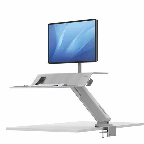 Stanowisko do pracy Sit-Stand Lotus™ RT  - białe na 1 monitor: Biały